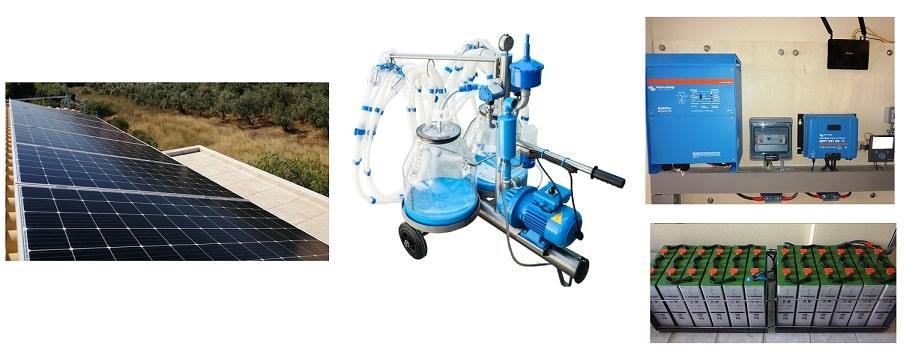 αυτόνομο φωτοβολταϊκό για αρμεκτικό μηχάνημα