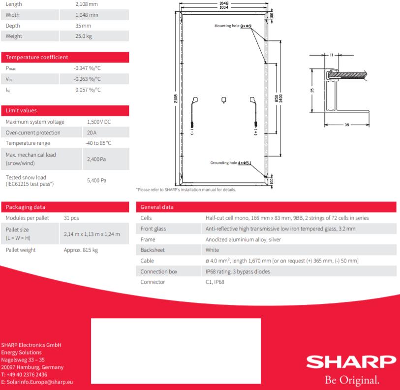 φωτοβολταικο πανελ Sharp